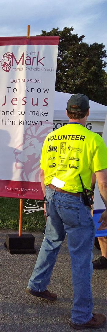 volunteer at last year's Faith Fest